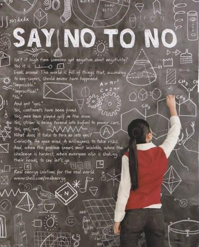 Say no to no