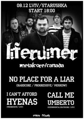 LIFERUINER (Metalcore/Canada)